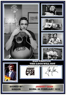 (#307) Johnny Cash Signed A4 Photograph (reprint) Great Gift @@@@@@@@@@@@@@@@@@@ • 5.99£