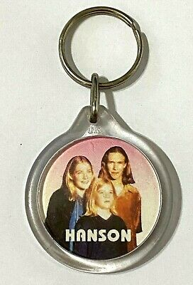 HANSON - Old Vintage 1990`s Double Sided Acrylic Keyring  • 2.99£