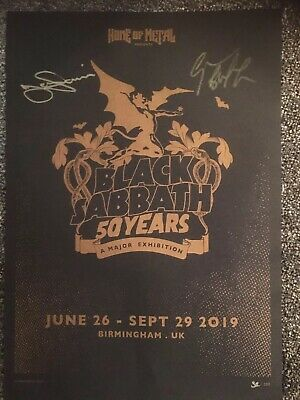 Black Sabbath | Signed A3 Poster | Iommi & Geezer Butler | No 32 Of 200 RARE!!!! • 150£