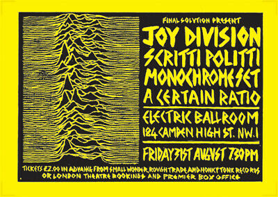 Joy Division Poster - Live At Electric Ballroom London 79 New Reprinted Edition • 14.99£