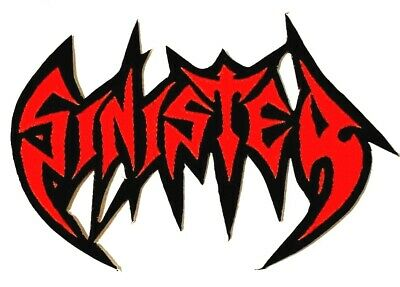SINISTER - Red Logo - Woven Patch Sew/Iron On Rare Death Metal Aufnäher écusson • 3.79£