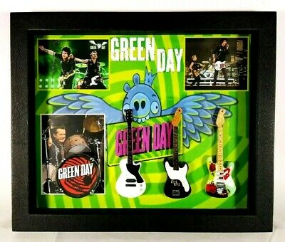 Green Day Guitars Tribute In Shadow Box SBM2 GD01 • 31.59£