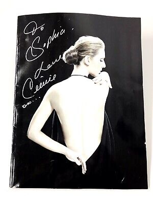 Autographed Authentic Celine Dion Caesars Palace The Colosseum 10X13 Magazine • 39.91£