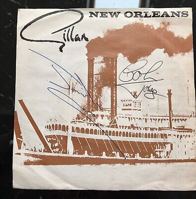 GILLAN New Orleans Janick Gers Signed Iron Maiden • 40£