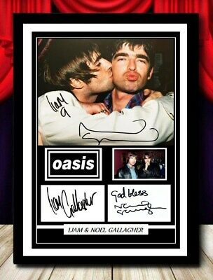 (346) Noel & Liam Gallagher Oasis Signed Unframed/framed Photograph (reprint) @@ • 14.99£