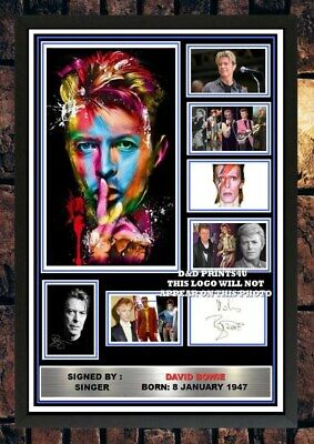 (420) David Bowie Signed Unframed/framed Photograph (reprint) @@@@@@@@@@@@@@@ • 5.99£