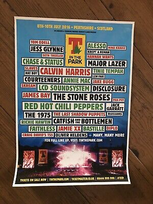 Original T In The Park 2016 Concert Poster 1975 Red Hot Chili Peppers • 15.95£