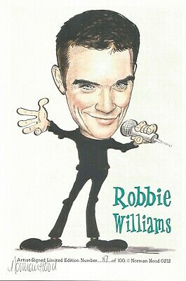 Genuine Robbie Williams Limited Edition Caricature #87/100 Norman Hood Signed • 14.99£