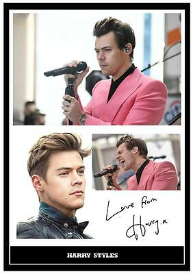 (##056)  Harry Styles One Direction  Signed   Photograph Great Gift @@@@@@@@@@@ • 5.99£