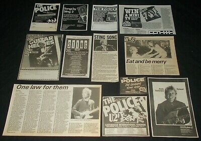 THE POLICE - COLLECTION OF ORIGINAL 1980's MAGAZINE MEMORABILIA / ADVERTS • 3.49£