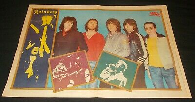 Rainbow - Down To Earth (rare 1980 Magazine Poster) / Uriah Heep - Conquest • 4.99£