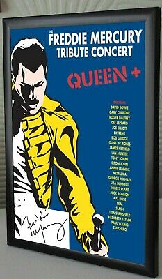 Freddie Mercury Tribute Concert SIGNED FRAMED  CANVAS TRIBUTE • 17.99£