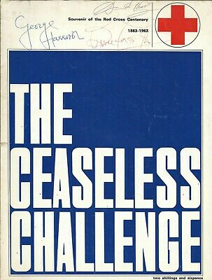 The Beatles - George Harrison Signed Red Cross Programme 1964 With Provenance • 800£