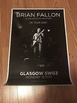 Original Brian Fallon & The Howling Weather 2020 Concert Poster • 14.17£