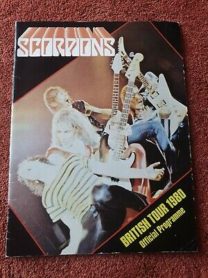 Scorpions 1980 British Tour Programme Autographed By + Blackfoot • 29.99£