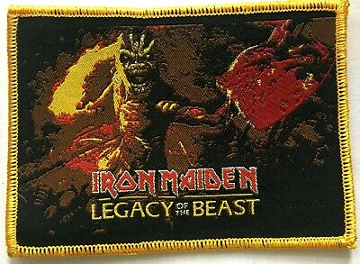 IRON MAIDEN - Legacy Of The Beast  - Woven Patch Rare Heavy Metal Eddie NWOBHM • 5.50£