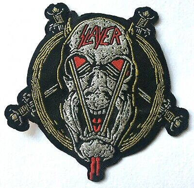 SLAYER - Glittered Woven Patch Sew/ Iron On Rare Thrash Metal Big4 Aufnäher • 5.50£