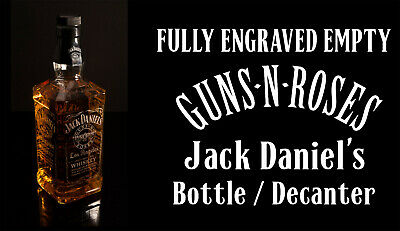 Guns N Roses - Jack Daniels, Empty Engraved Bottle & FREE UK Post • 34.99£