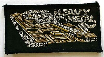 HEAVY METAL - Old OG Vtg 70/80`s Woven Patch Sew On Aufnäher écusson NWOBHM Tank • 6.95£
