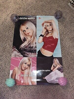 Christina Aguilera 2-Sided Vintage Poster - Debut Album, 2000 24x36 • 31.76£