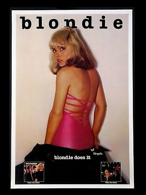 BLONDIE 16  X 12  Reproduction Promo Poster Photo • 6.95£