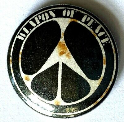 WEAPON OF PEACE - Old Vtg 70/80`s Button Pin Badge 25mm Reggae  • 3.99£