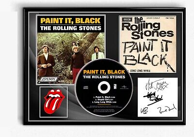 The Rolling Stones Paint It Black  Cd Signed A4 Tribute Memorabilia Gift  • 19.99£