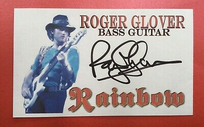 Roger Glover Signed Deep Purple Rainbow • 19£