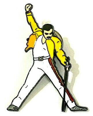 QUEEN - Freddie Mercury - Studded Enamel Metal Pin Badge  • 4.99£