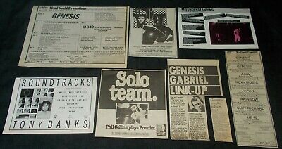 Genesis - Collection Of Vintage Magazine Memorabilia • 3.99£