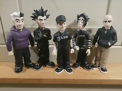 Good Charlotte Band Figurines Rare Doll Figures Full Set Joel Billy  • 250£