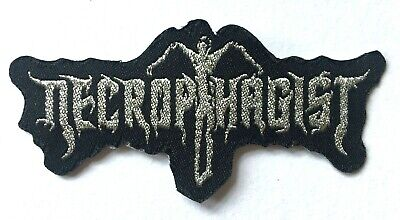 NECROPHAGIST - Silver Logo - Woven Patch Sew/Iron On Technical Death Metal  • 4.04£