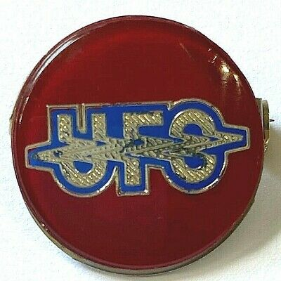 UFO - Old OG Vtg 70/80`s Crystal Prismatic Metal Pin Badge MSG Michael Schenker • 6.99£