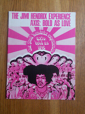The Jimi Hendrix Experience Axis: Bold As Love Original 1968 Sheet Music Book In • 10£