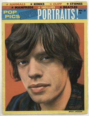 Rolling Stones Pop Pics Super Portraits No.21 Magazine UK MAGAZINE TOWER HOUSE • 32.70£