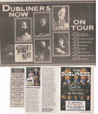 THE DUBLINERS : CUTTINGS COLLECTION - Adverts  • 4£