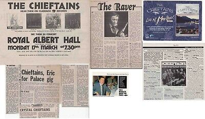 THE CHIEFTAINS : CUTTINGS COLLECTION - Adverts Etc  • 3.50£