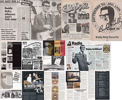 BUDDY HOLLY : CUTTINGS COLLECTION - Adverts Interview  • 4.55£