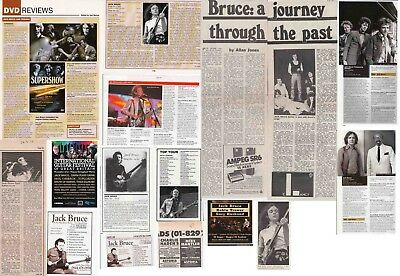 JACK BRUCE : CUTTINGS COLLECTION - Interviews Adverts  • 5£