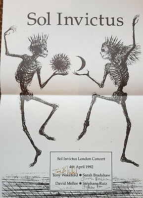 Sol Invictus Signed Concert Poster 1992 Mint Current 93 Death In June Poster • 70£