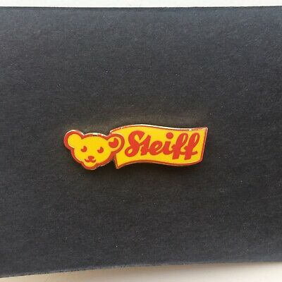 Steiff Teddy Bear Button In Ear Metal Pin Badge - New And Sealed! • 5£