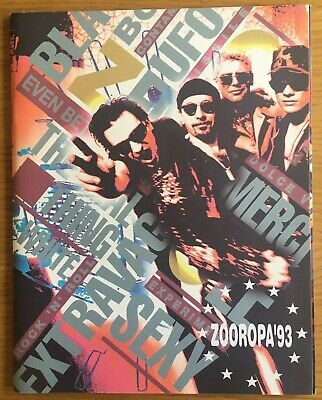 U2 ZOOROPA 93 TOUR Programme With Stickers Excellent Condition • 2.99£