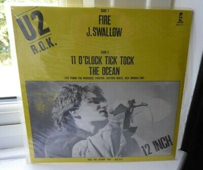 U2 R.O.K. Fire 12' Single Includes Live Tracks • 8.99£