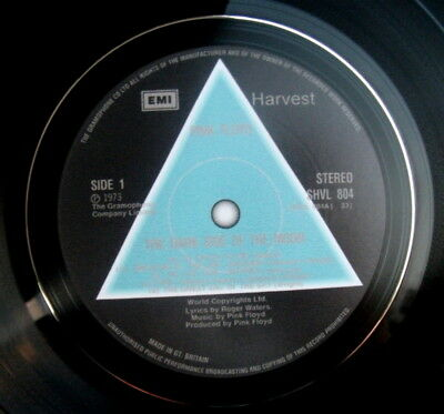 Pink Floyd Dark Side Of The Moon Solid Triangle  Vinyl Lp Retro Bowl Quality  • 12.99£
