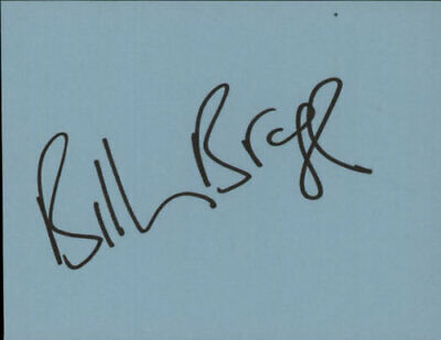 Billy Bragg Page Of Autograph Book Memorabilia UK Autographed AUTOGRAPH N/A • 31.70£
