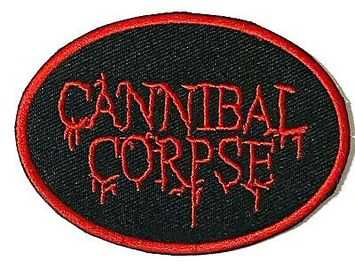 CANNIBAL CORPSE - Logo - Embroidered Patch Sew/Iron On Brutal Death Metal  • 2.95£