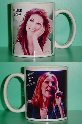 CELINE DION - With 2 Photos - Designer Collectible GIFT Mug 01 • 10.34£