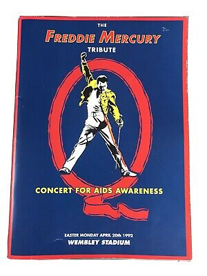 Rare Genuine 1992 Freddie Mercury Tribute Concert For Aids Awareness Programme • 16£