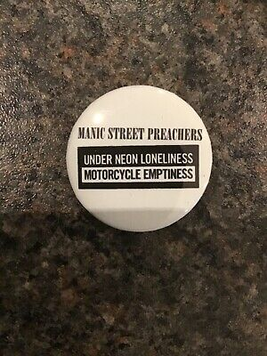 Manic Street Preachers Motorcycle Emptiness 32mm Button Badge • 1.40£