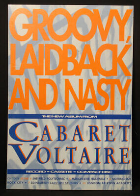 Groovy Laid Back & Nasty Cabaret Voltaire Display UK Promo PROMO DISPLAY • 54.10£
